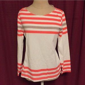 J Crew Sailor Tee Sweater 3/4 sleeve stripes S